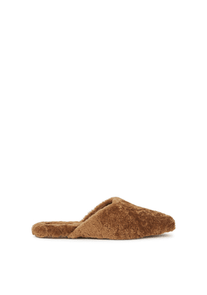 Vince Caela Brown Shearling Slippers