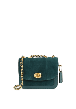 Coach Madison 16 Green Leather And Suede Cross-body Bag
