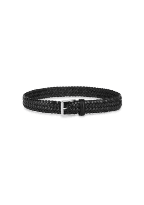 Anderson's Black Woven Leather Belt