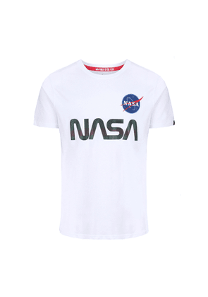 Alpha Industries Nasa Rainbow Reflective T White