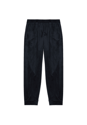 Emporio Armani Navy Velour Sweatpants