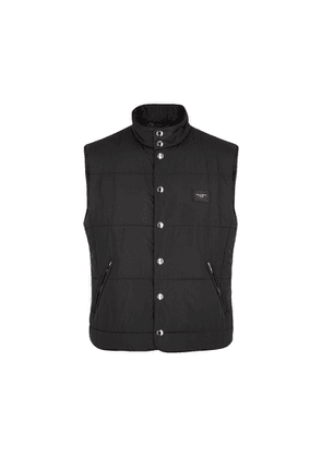Dolce & Gabbana Black Quilted Shell Gilet