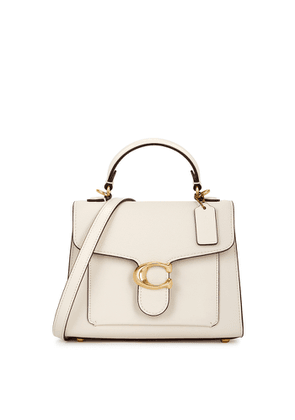 Coach Tabby 20 Ivory Leather Top Handle Bag