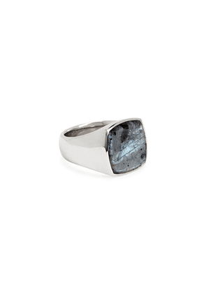 Tom Wood Cushion Larvikite Sterling Silver Ring