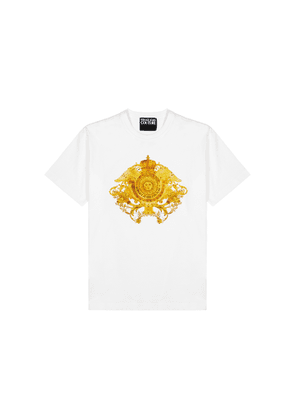 Versace Jeans Couture White Printed Cotton T-shirt