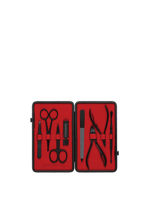 Czech & Speake 8 Piece Manicure Set: Black & Red