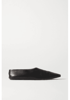 The Row - Leather Ballet Flats - Black