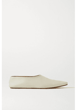 The Row - Leather Ballet Flats - Ivory