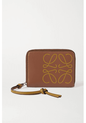 Loewe - Embossed Leather Wallet - Tan