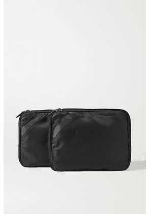 Paravel - Set Of Two Nylon And Tpu Packing Cubes - Black