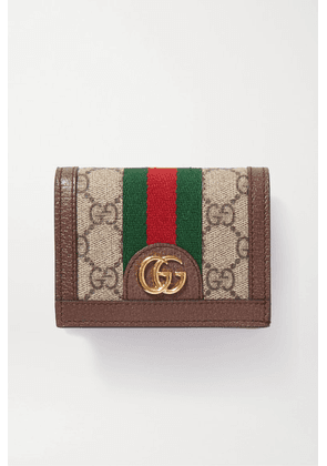 Gucci - Ophidia Textured-leather Printed Coated-canvas Wallet - Beige