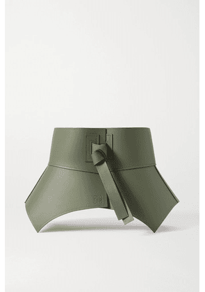 Loewe - Obi Leather Waist Belt - Sage green