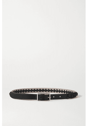 Alexander McQueen - Knotted Leather Waist Belt - Black