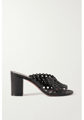 Alaïa - 75 Laser-cut Leather Sandals - Black