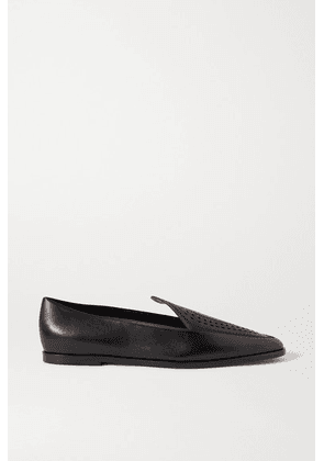 Alaïa - Laser-cut Leather Loafers - Black