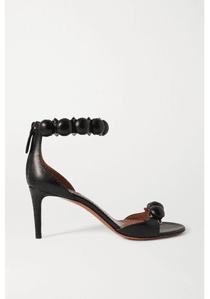 Alaïa - Bombe 75 Studded Leather Sandals - Black