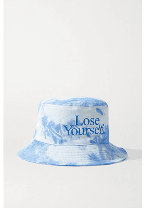Paco Rabanne - + Peter Saville Printed Tie-dyed Cotton-canvas Bucket Hat - Blue