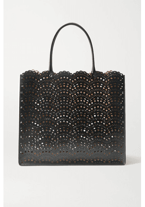 Alaïa - Garance Medium Scalloped Laser-cut Leather Tote - Black