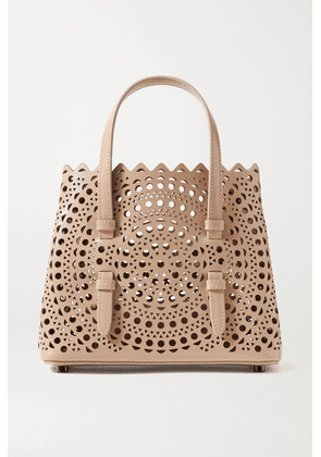 Alaïa - Mina Mini Laser-cut Leather Tote - Blush