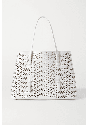 Alaïa - Mina 32 Large Laser-cut Leather Tote - White