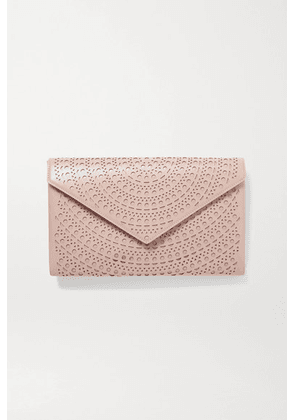 Alaïa - Laser-cut Leather Clutch - Blush