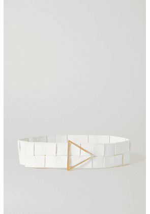 Bottega Veneta - Intrecciato Leather Waist Belt - White