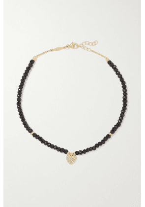 Jacquie Aiche - 14-karat Gold, Onyx And Diamond Anklet