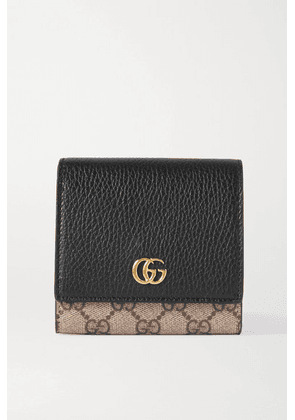 Gucci - + Net Sustain Gg Marmont Petite Medium Textured-leather And Printed Coated-canvas Wallet - Black