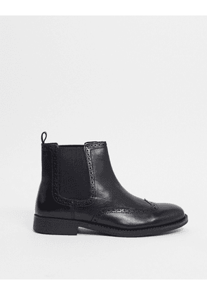Dune charing cross chelsea boots in black leather