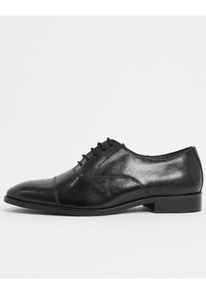 Dune salter lace up shoes in black leather