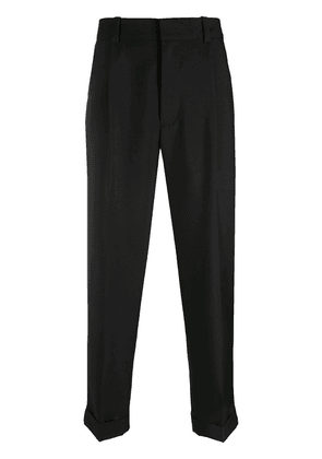 Acne Studios cropped wool-blend trousers - Black