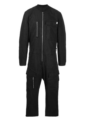 Diesel zip-up denim jumpsuit - Black
