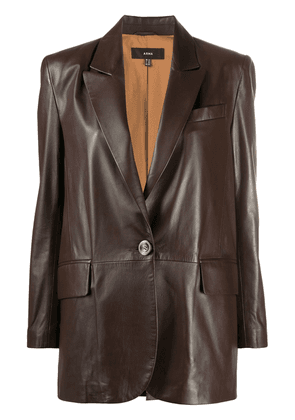 Arma matte single-breasted blazer - Brown