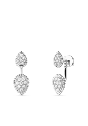 Boucheron 18kt white gold diamond Serpent Bohème single earring - Silver