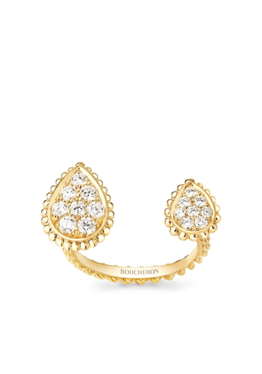 Boucheron 18kt yellow gold diamond Serpent Bohème ring