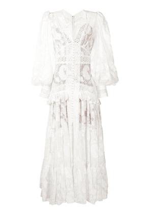 Acler Suffield broderie-trimmed lace dress - White