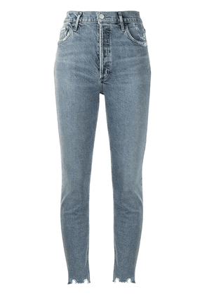AGOLDE Nico distressed skinny jeans - Blue