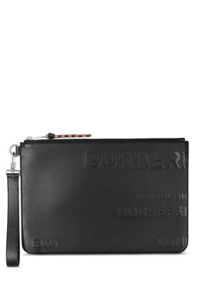 Burberry Horseferry-print pouch - Black
