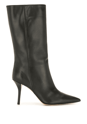 Gia Couture pointed toe mid-calf boots - Black