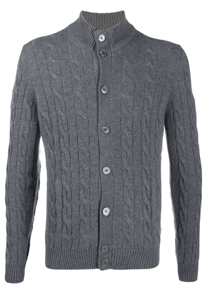 Barba button up chunky knit jumper - Grey