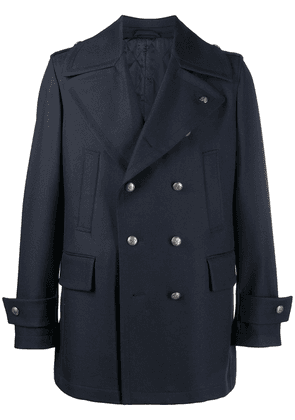 Gabriele Pasini double-breasted wool coat - Blue