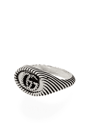 Gucci sterling silver GG pinky ring