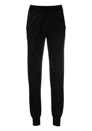 Bella Freud Cher sequin track pants - Black