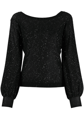 Bella Freud Cher balloon sleeved sequin top - Black