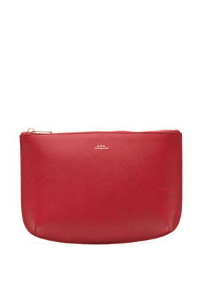 A.P.C. leather make-up bag - Red