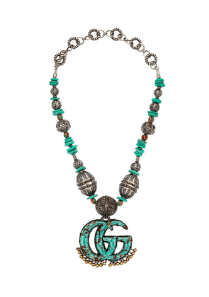 Gucci GG Marmont beaded necklace - Silver