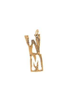 Acne Studios W-shaped pendant - Gold