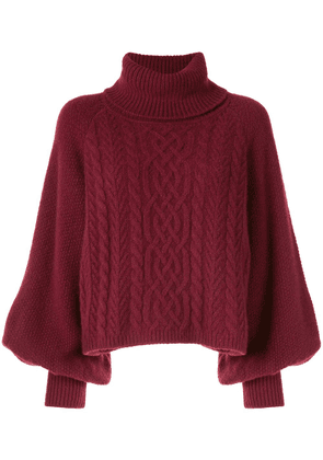 Adam Lippes cable-knit jumper - Red