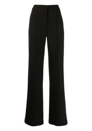 Adam Lippes pintucked crepe wide-leg trousers - Black