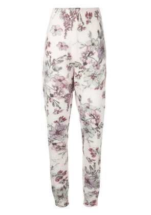 Adam Lippes floral-print knit trousers - White
